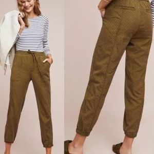 Comfy Chic ANTHRO Moss Flocked Joggers XS